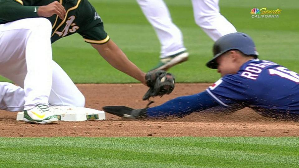 Lucroy nabs Robinson at second