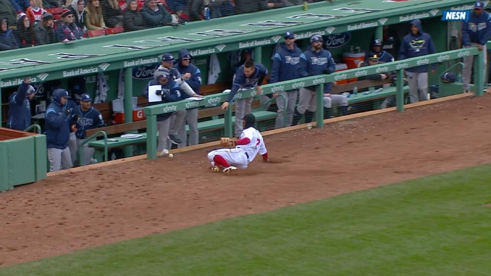 Bogaerts leaves with injury