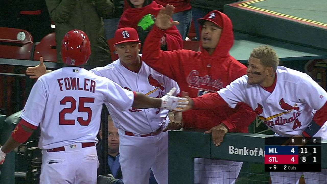 Greg holland struggles in season debut st louis cardinals fowlers game tying sac fly malvernweather Gallery