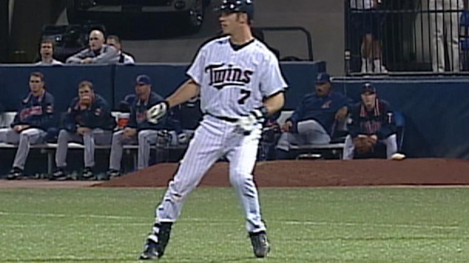 Mauer's first big league hit