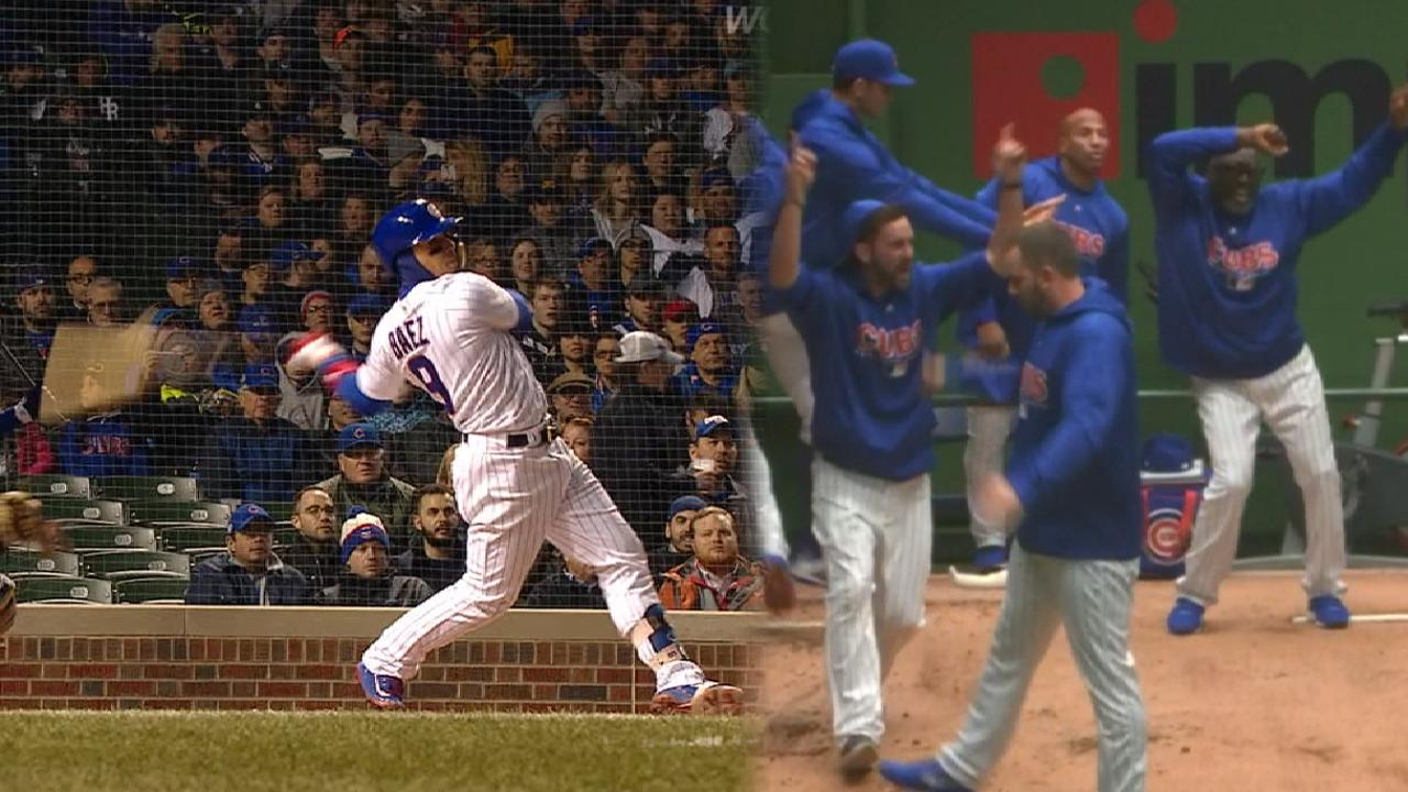 7016979f4 Cubs bullpen dances after Javy Baez homer | MLB.com