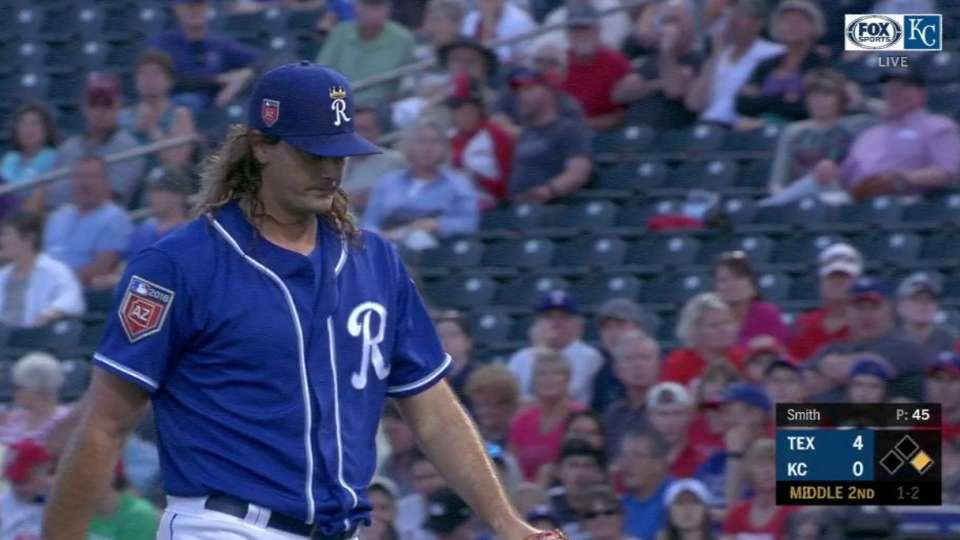 Smith strikes out Andrus