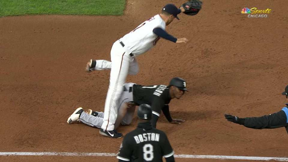 Anderson safe on pickoff attempt