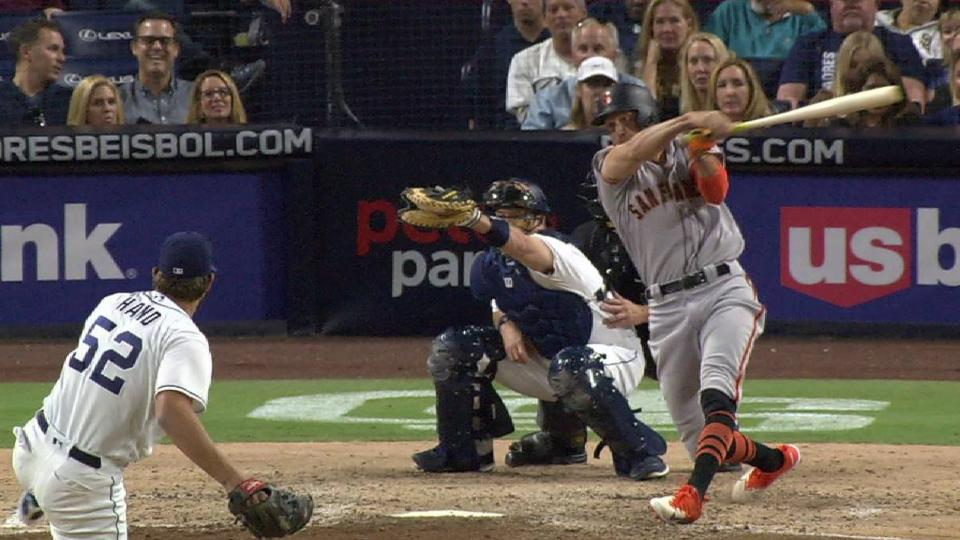 Hand strands runner at second