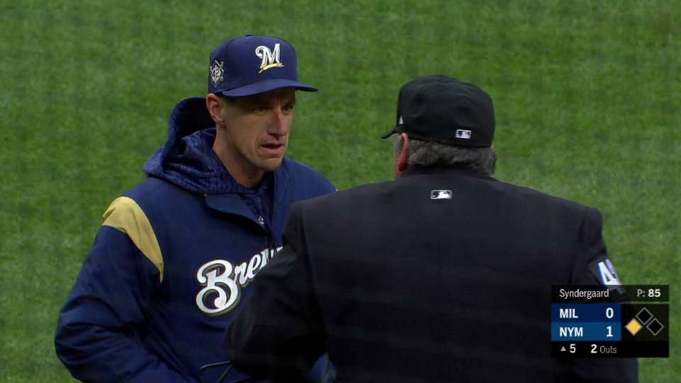 Counsell ejected after Bandy's K