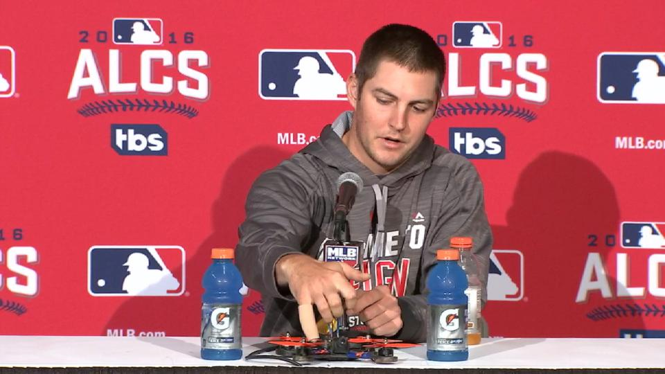 Bauer on injury, shows off drone