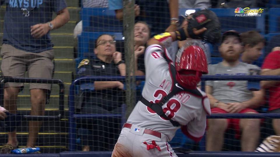 Alfaro makes catch into cameras