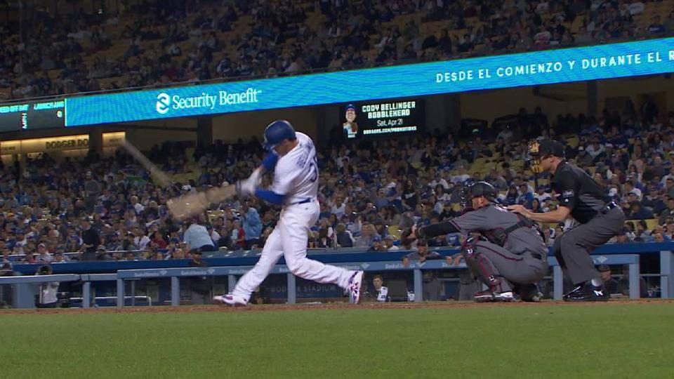Bellinger's solo homer to right