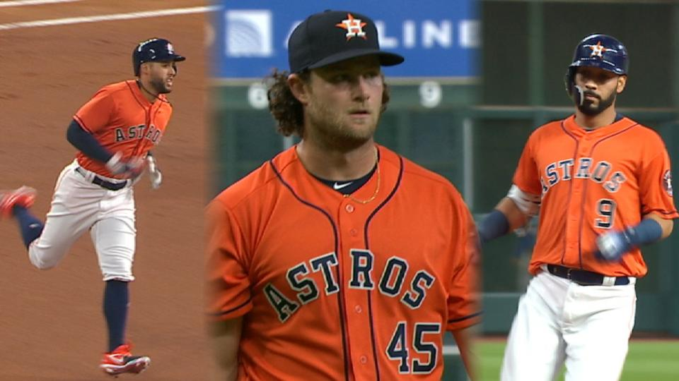 Springer, Cole lead Astros