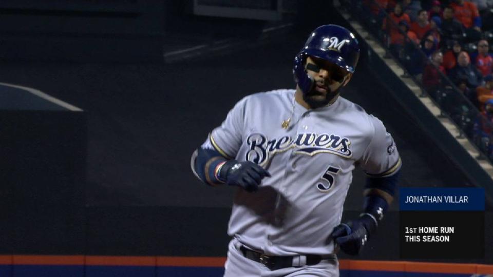 Villar's three-run homer
