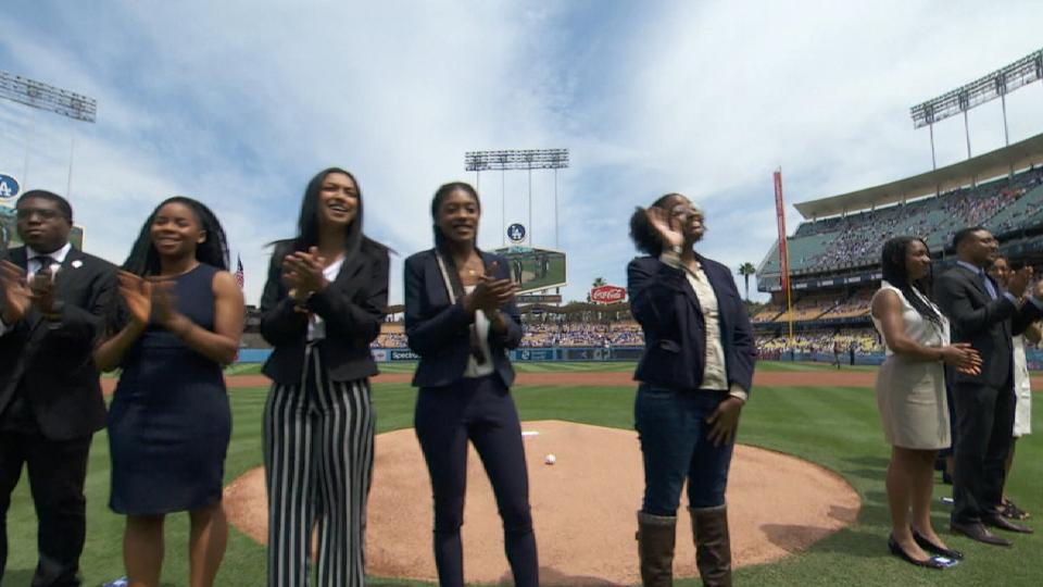 Dodgers honor Robinson Scholars