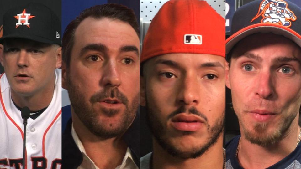 Astros talk after loss to Texas