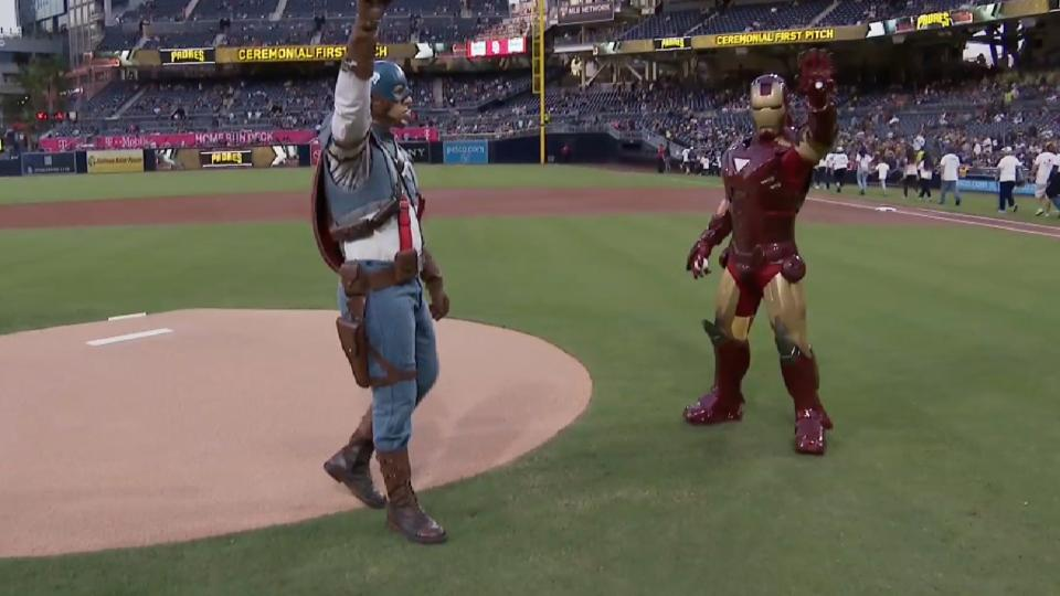 4/13/18: Avengers' first pitch