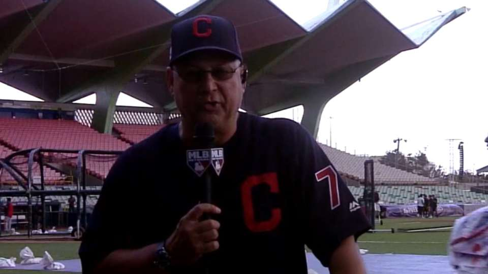 Francona on playing in P.R.
