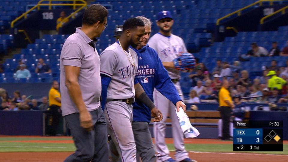 Profar leaves with an injury