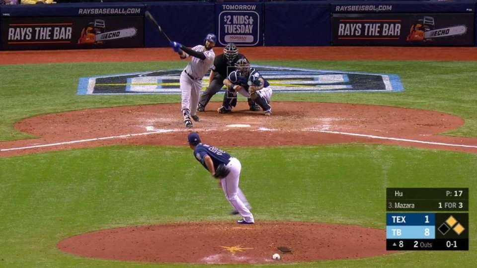 Mazara's three-run home run