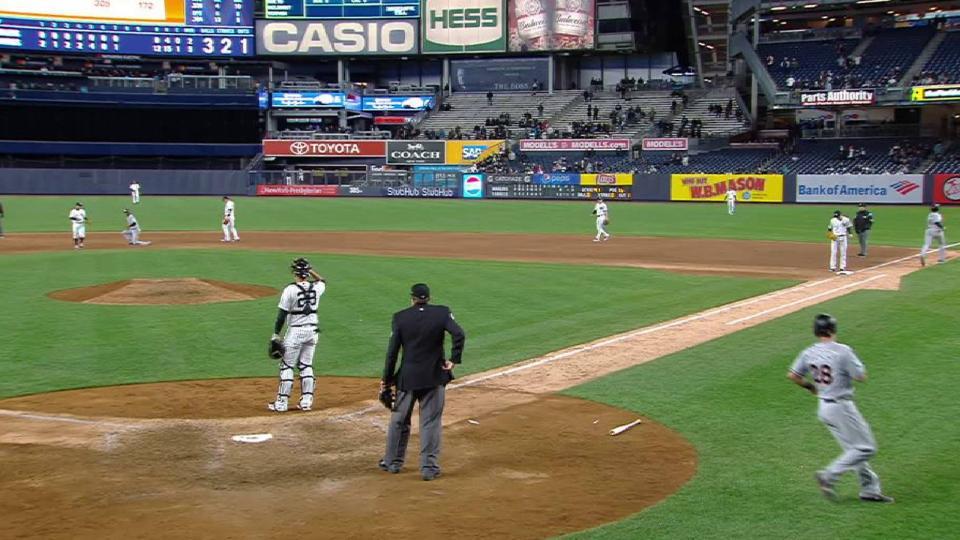 Bour's RBI fielder's choice
