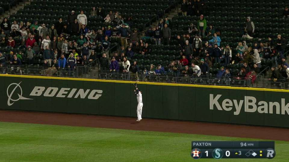 Haniger's catch at the wall