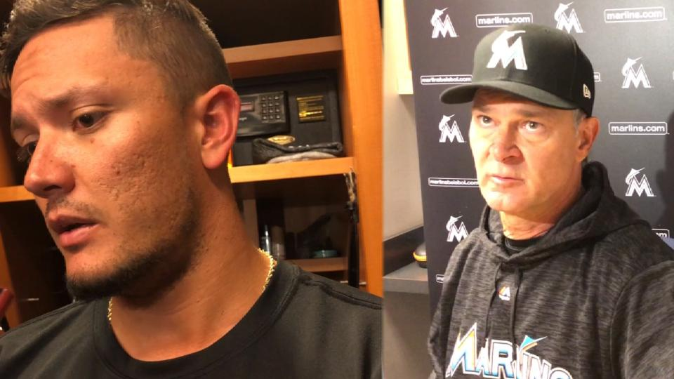 Marlins discuss loss to Yankees