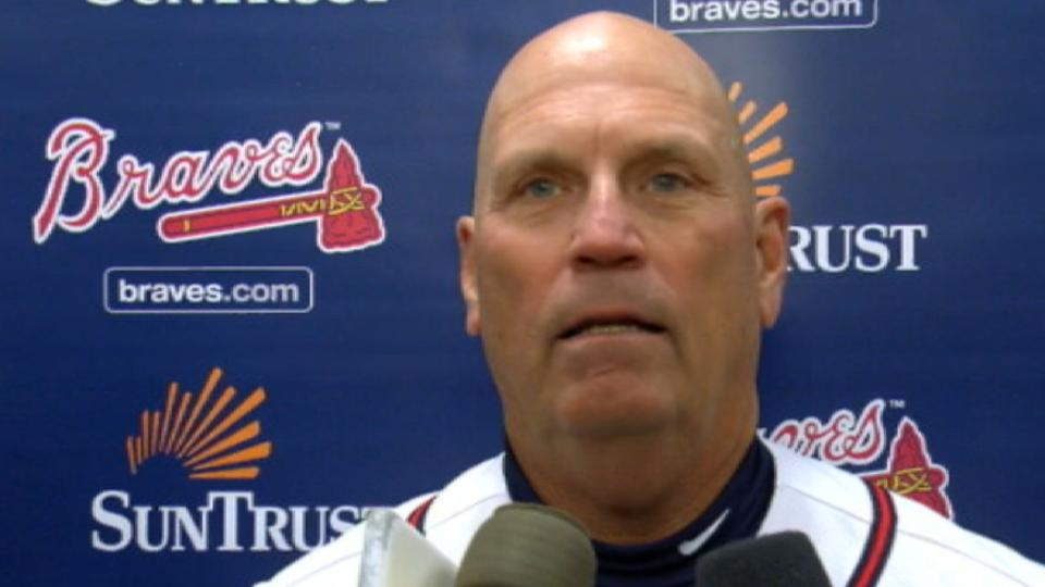 Snitker on pitching duel in win