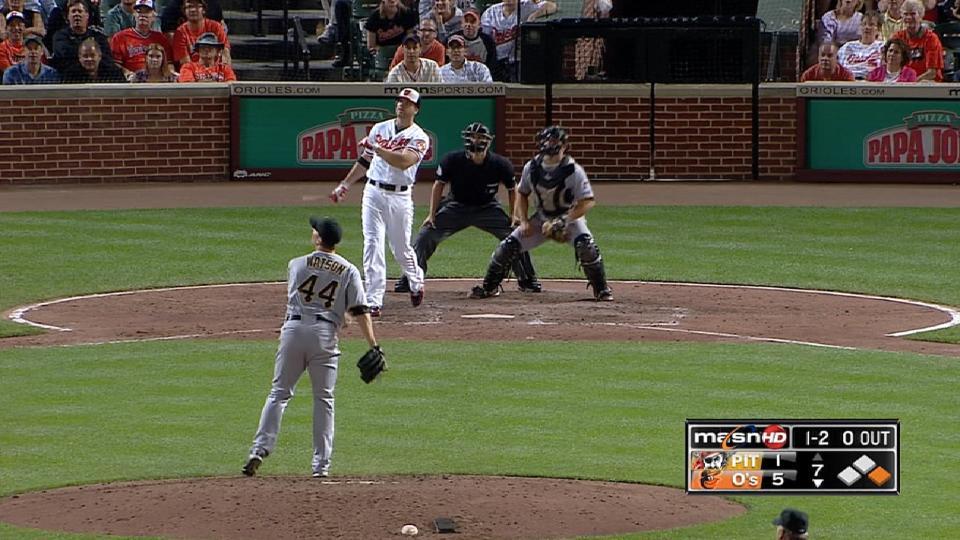 Davis' broken-bat blast