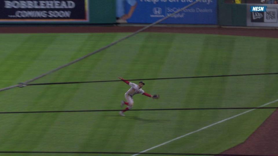Betts' running catch in right