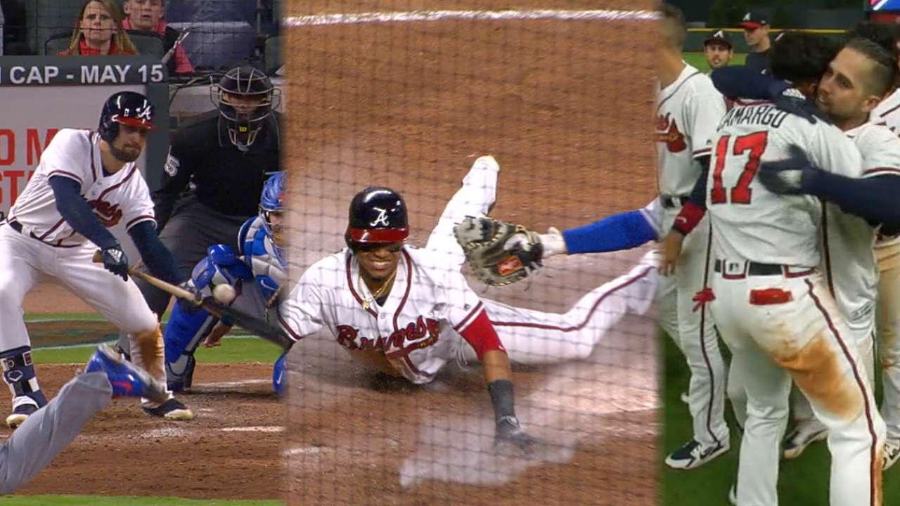 fba0dbbda74c Ender Inciarte bunts Braves to walk-off win   MLB.com