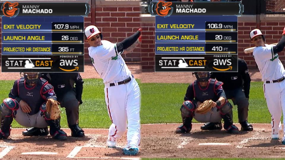 Statcast: Machado's two homers