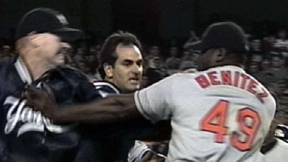Yanks, Orioles benches clear