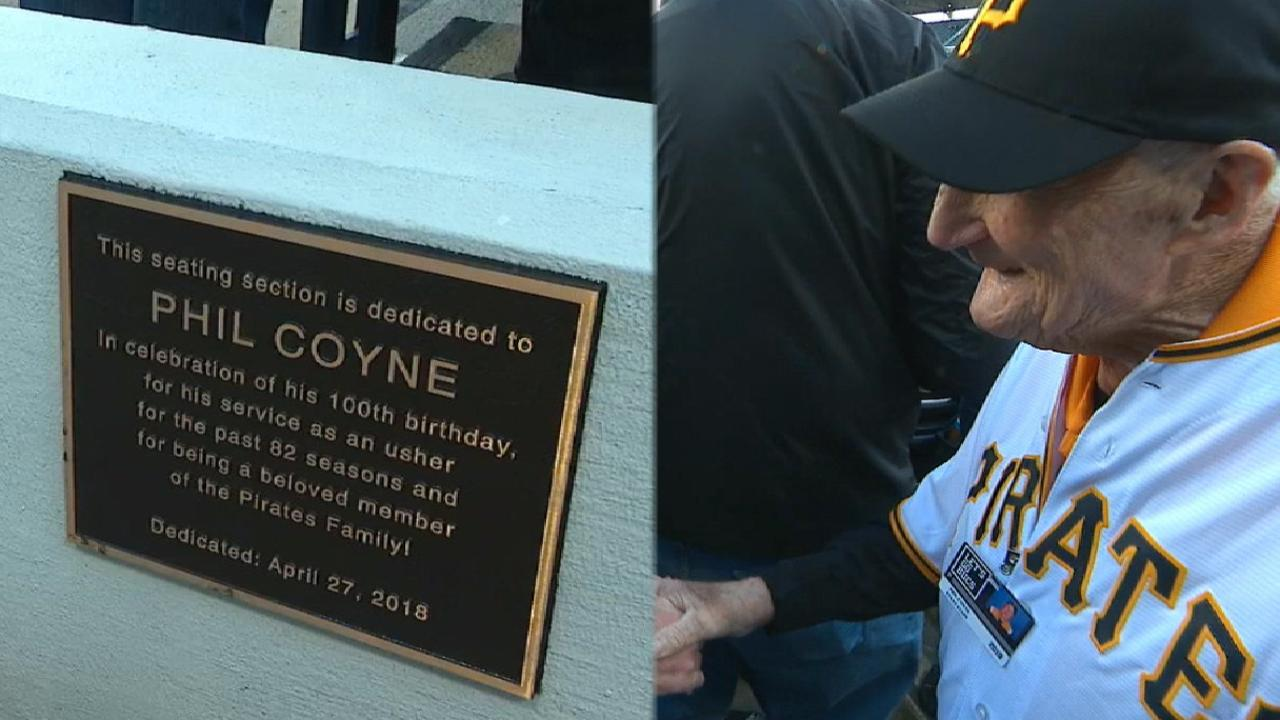 Pirates Celebrate Phil Coynes 100th Birthday