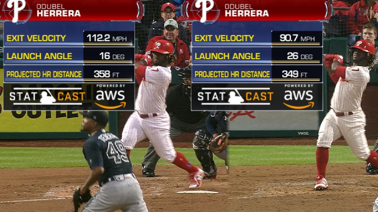Statcast: Herrera's two homers