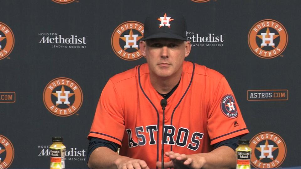 Hinch on 8-1 loss to Athletics