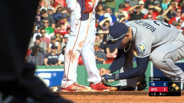 What Friends Are For: Rays' Daniel Robertson Ties Eduardo Nunez's Shoe  Mid-Game | Boston Red Sox | NESN.com
