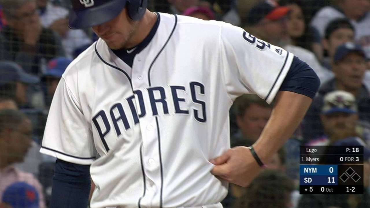 Wil Myers goes on DL with oblique strain | MLB.com