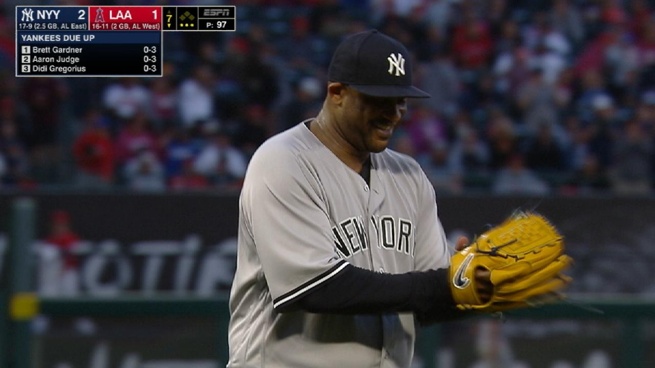 CC Sabathia leads Yankees to win over Angels  b3a2a074c2