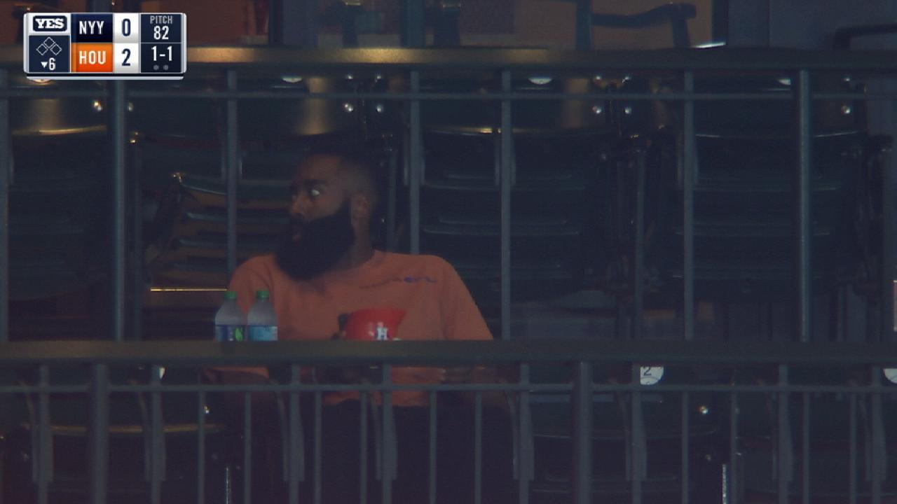 wholesale dealer b8d72 93b78 James Harden eats ice cream at Yankees-Astros game | MLB.com
