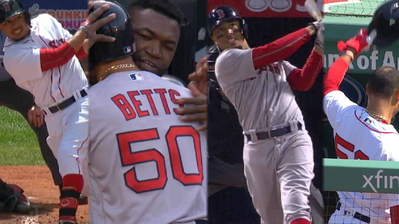 Betts' four three-HR games