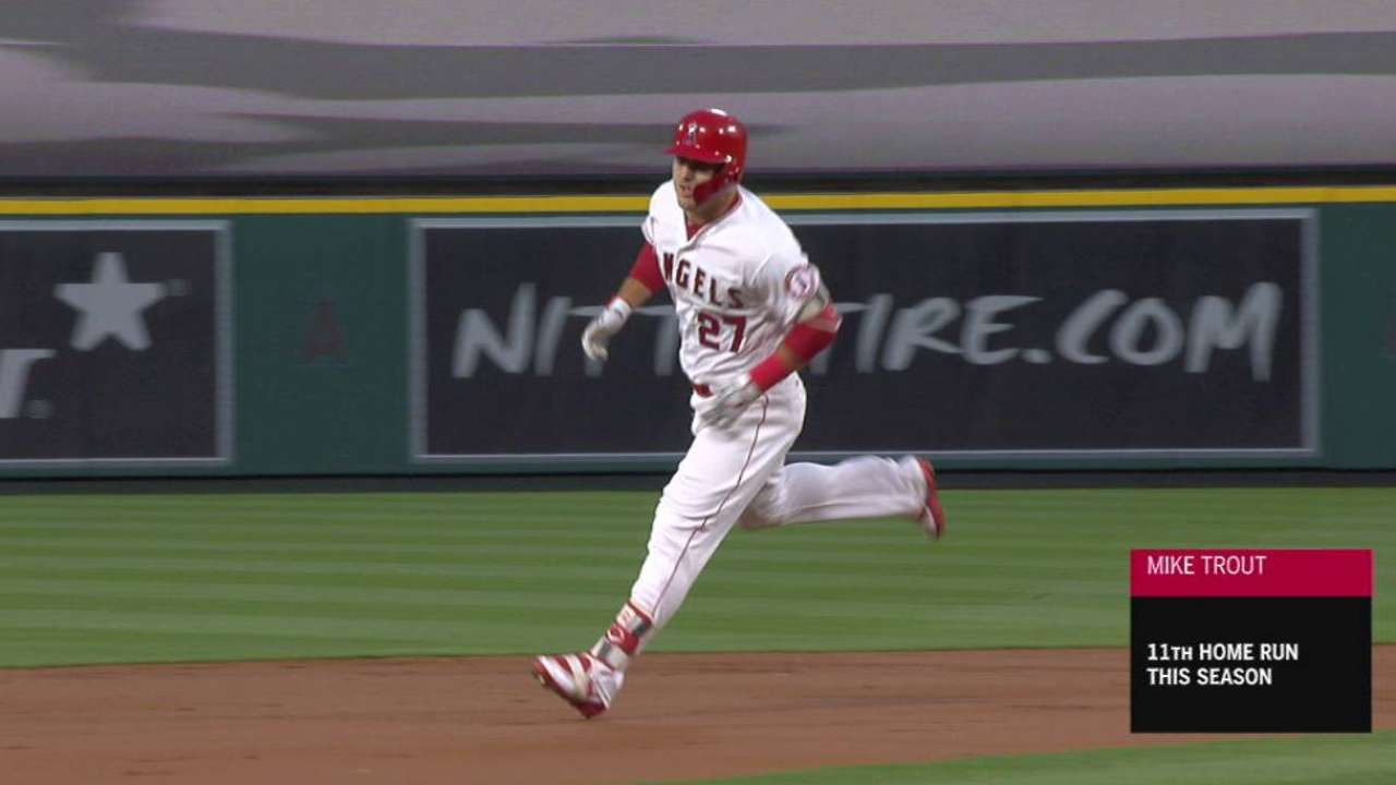 Trout's mammoth smash