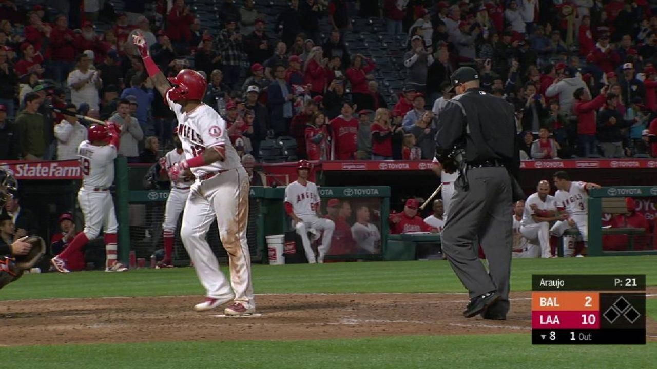 Maldonado's solo home run