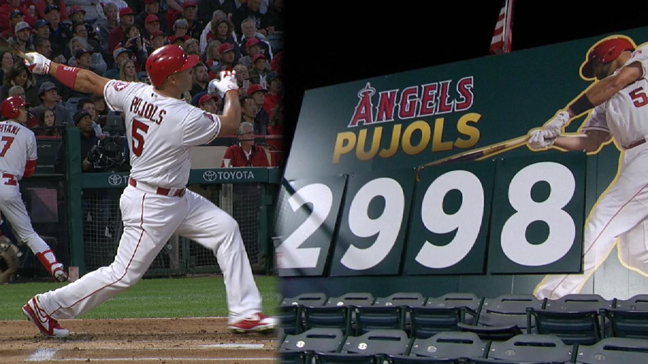 Pujols moves closer to 3,000