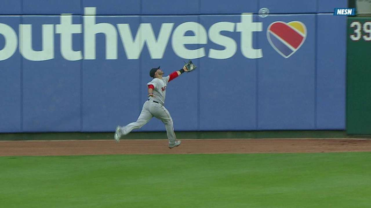 Martinez's catch at the wall