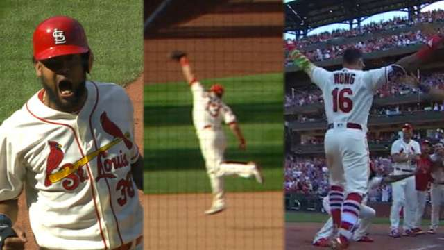 Cardinals walk off on kolten wong home run st louis cardinals fandeluxe Image collections