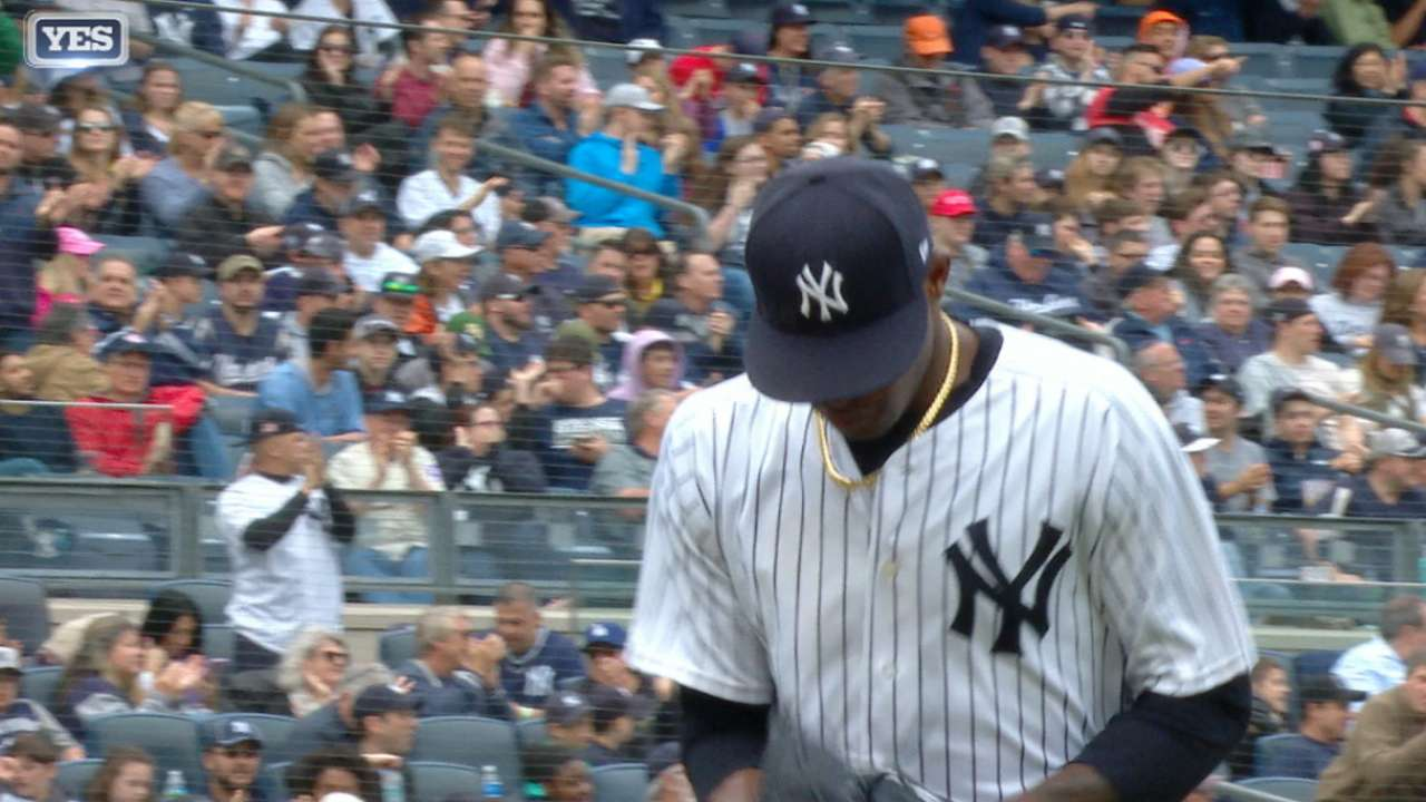 Image result for DOMINGO GERMAN GETS HITS GIFS YANKEES