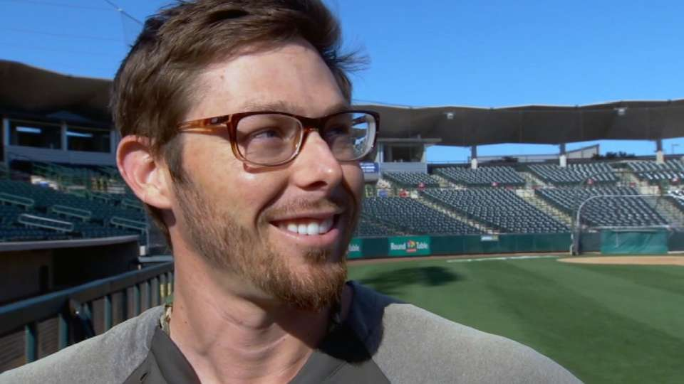 Eric Sogard chats from A's camp