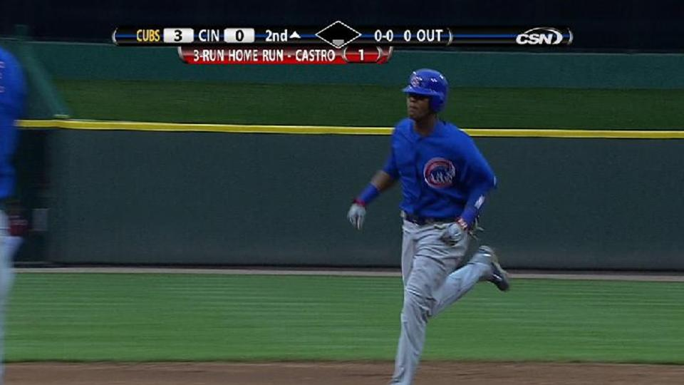 Castro's first career homer