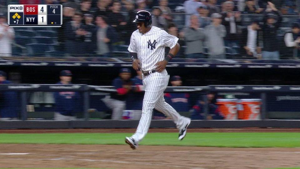 Gardner walks home first run
