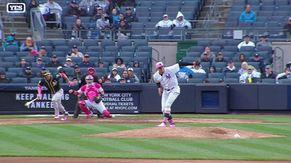 Betances' behind-the-back play