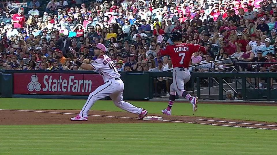 Marte nabs Turner after review