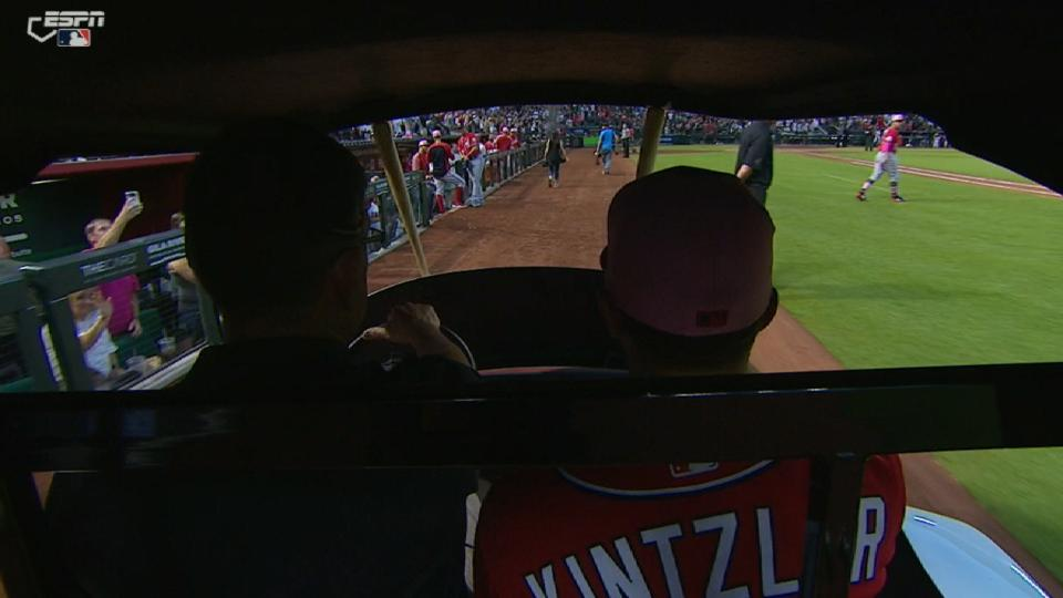 Nationals ride the bullpen cart