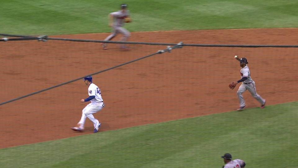Teheran's nice pickoff for out